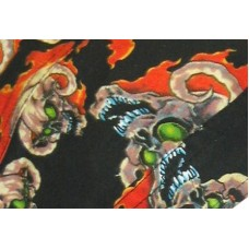 devil in flames ezdanna head wraps